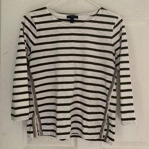 J. Crew Striped Top with Sequins size Small!
